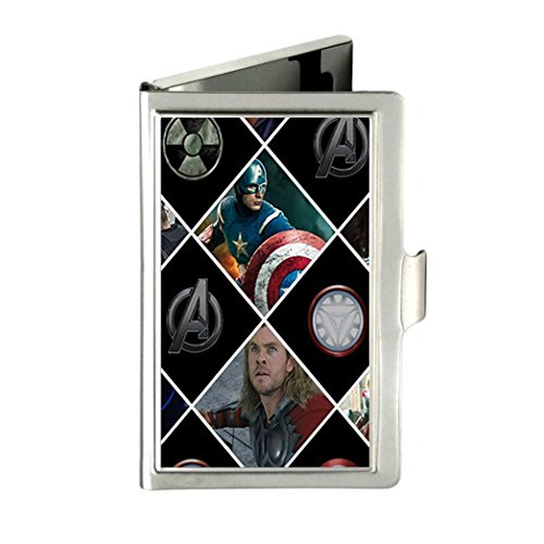 The Avengers Custom Unique Business Name Card Wallet Holder Stainless Steel Case with gift box