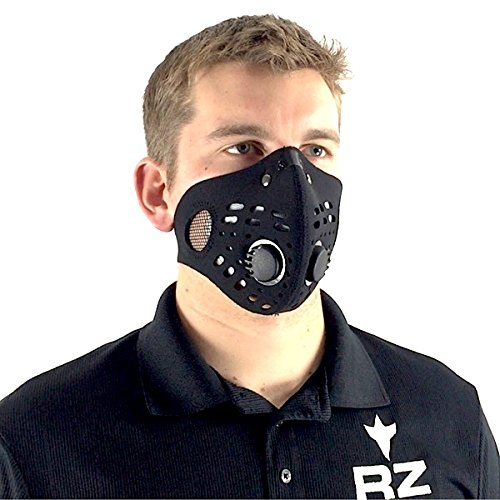 RZ-Mask-Bonus-Pack-w5-filters-Model-M1-Black-Size-Regular