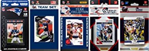 NFL New England Patriots 6 Different Licensed Trading Card Team Sets by C&I Collectables