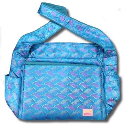 Blue Waves Silk Boutique Diaper Bag front-278791