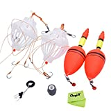 Ckeyin ® Sea Fishing Tackle Tool Kits --EVA Foam Floats Stick+Weights Sinker+Bobber Stopper+Box+Bait Cages With Six Strong Explosion Bighead Carp Hooks