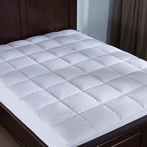 Puredown Down Alternative Mattress Pad Topper Fitted