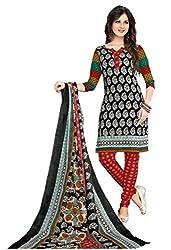 Komal arts Ethnicwear Women's Dress Material(Komal arts_SHREE4673_Black_Free Size)