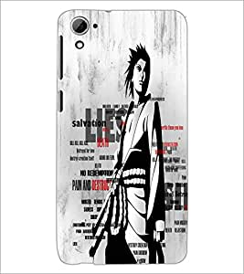 PrintDhaba Typography D-2676 Back Case Cover for HTC DESIRE 826 (Multi-Coloured)