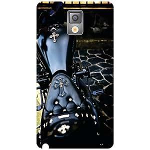 Samsung Galaxy Note 3 N9000 Back Cover - Black Bike Designer Cases