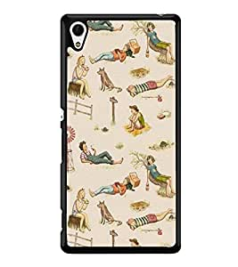 Fuson Premium 2D Back Case Cover Moment in Beach With Pink Background Degined For Sony Xperia Z4::Sony Xperia Z4 E6553