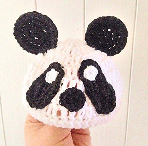 [Panda Comedy Hat, Crochet Animal Panda hat in Sizes from Preemie Baby through to Adult] (Homemade Baby Panda Costume)