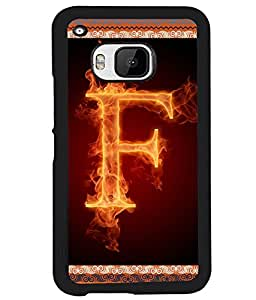 Fuson 2D Printed Alphabet F Designer back case cover for HTC One M9 - D4195