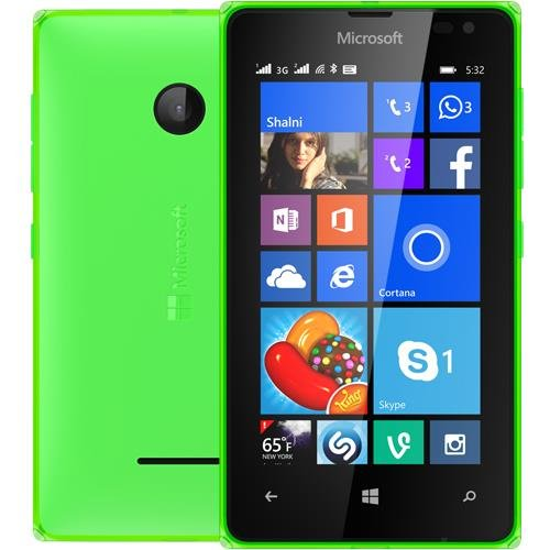 Microsoft Lumia 532 UNLOCKED RM-1032 Dual Sim Windows Phone 2G GSM 850/900/1800/1900MHZ, WCDMA 850/900/1900/2100MHZ (Green)