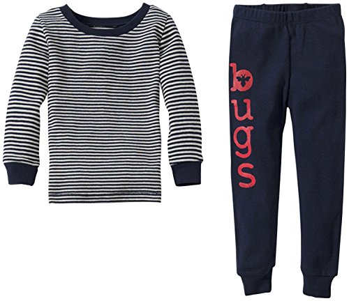Burt'S Bees Baby Little Boys' Bugs Graphic Pj Set (Toddler/Kid) - Midnight - 4T front-1004696