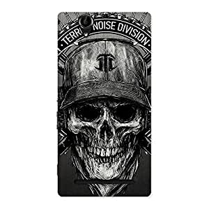 Gorgeous Grey Skull Terr Back Case Cover for Sony Xperia T2