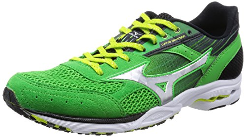 [ミズノ] MIZUNO WAVE SPACER DYNA 2 [MEN'S] J1GA1576 03 (グリーン×シルバー/275)