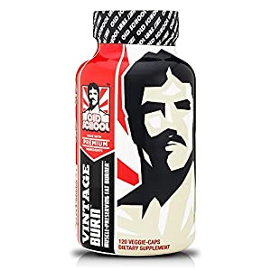 Vintage Burn - The Worlds First Muscle-preserving Fat Burner - Garcinia Cambogia Raspberry Ketones Green Coffee 6 More Fat Burning Ingredients - 120 Veggie Caps from Old School Labs