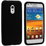 Black Silicone Rubber Gel Soft Skin Case Cover for Samsung Epic Touch 4G Sprint Galaxy S2 S II