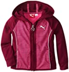 PUMA Little Girls' Striped Hoodie