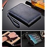 IPad Air 1 Air 2 Case [DEEP BLUE] Business Class ULTRA SLiM Premium Luxury Leather Smart Flip Case Flip Cover...