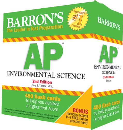 Barron S AP Environmental Science Flash Cards, 2nd Edition