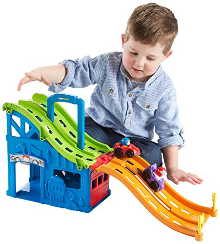 Fisher-Price Little People Wheelies Race and Chase Carrier (Toy Race Cars compare prices)