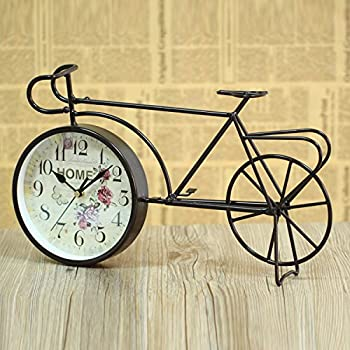 LFX Retro clock retro bicycle gifts clock students study European ornaments