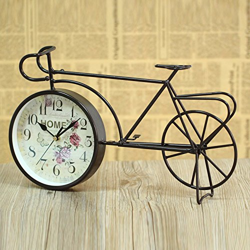 LFX Retro clock retro bicycle gifts clock students study European ornaments 0