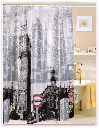 Londons Big Ben EVA Croscill Shower Curtains Yanfang