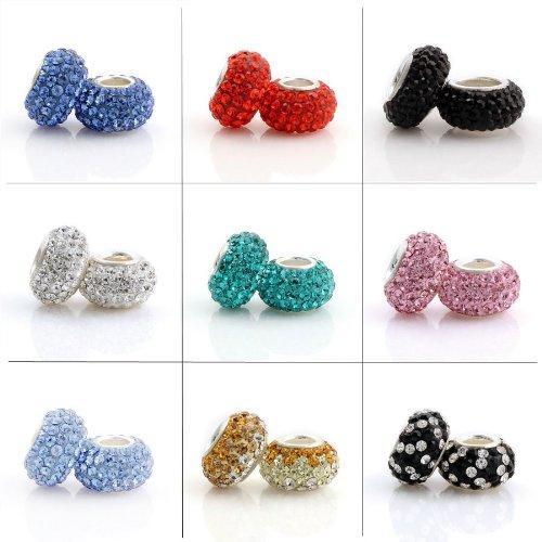 Pink Swarovski Elements Crystal Charm Bead -