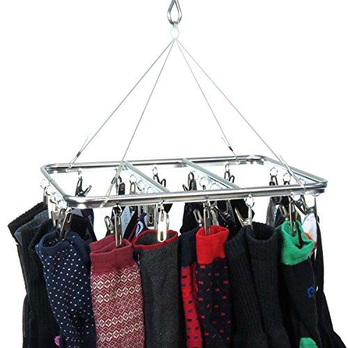 Hangerworld Séchoir en métal pour chaussettes et sous-vêtements intérieur/extérieur