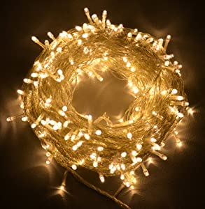 Proxima Direct® 100/200/300 LEDs 12M/22M/32M String Fairy Lights for Christmas Tree Party Wedding Events (8 Operation Modes) - (Warm White, 300 LEDs)