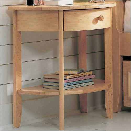 Amazon.com - 2nd Nature Half Round Bedside Table - End Tables