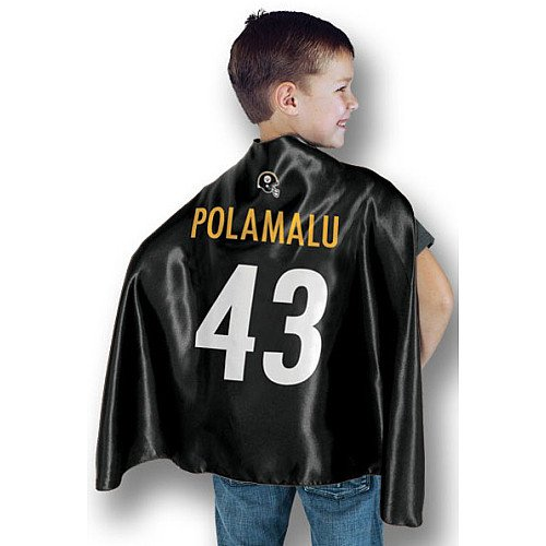 NFL Pittsburgh Steelers Troy Polamalu Hero Cape, 24-Inch x 38-Inch, Black