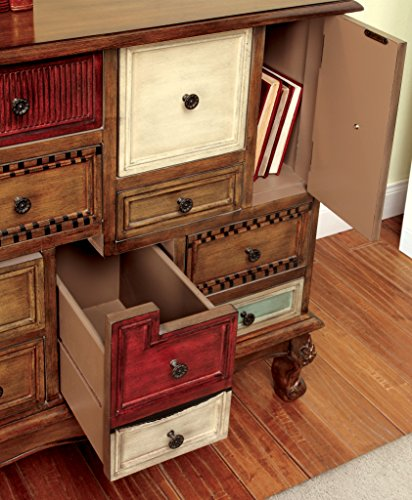 Furniture of America Zeppo Vintage Style Storage Chest, Antique Walnut 1