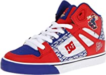 DC Kids Spartan High WG Sneaker (Little Kid/Big Kid),Red/Blue,2.5 M US Little Kid