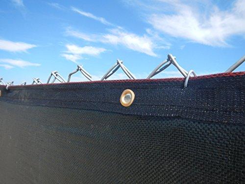 Aleko 8 x 50 foot black fence privacy screen outdoor for 8 foot high outdoor privacy screen