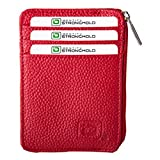 RFID Blocking Secure Wallet Mini - Pebbled (Red)