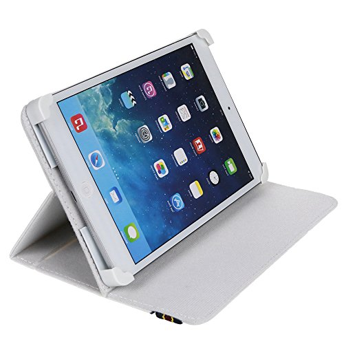 "Danystar® Custodia Cover Universale 7"" per Tablets (Bianco)"