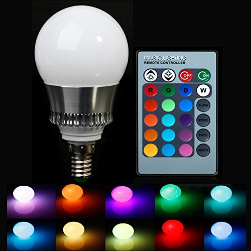 Lvjing® Energy Saving E14 10W Rgb Led Bulb Lamp With Remote Control Multi-Color Led Lighting Ac85-265V (1Pcs, E14 10W)