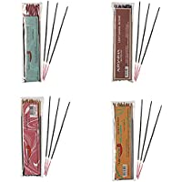 Auroshikha Combo Of Incense Sticks ,Opium, Light Sandal, Mantra ,Basilic- Pack Of 4