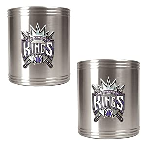 Sacramento Kings NBA 2pc Stainless Steel Can Holder Set - Primary Logo by Great American