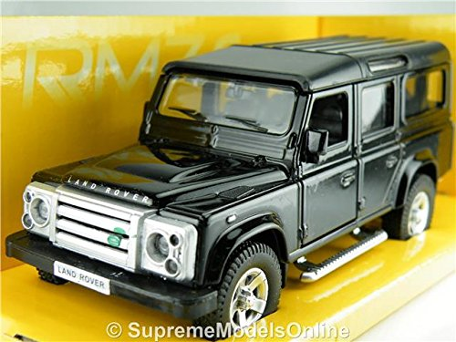land-rover-defender-lwb-model-car-1-36-scale-black-colour-rmz-example-t3412z