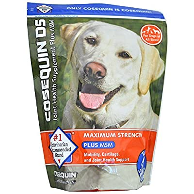 Cosequin DS Joint Health Supplement for Dogs Plus MSM - 120 Soft Chews