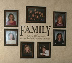 FAMILY today's little moments become tomorrow's precious memories Wall Saying Quote Art Vinyl Decal Sticker Chocolate Brown by Wall Decor Plus More