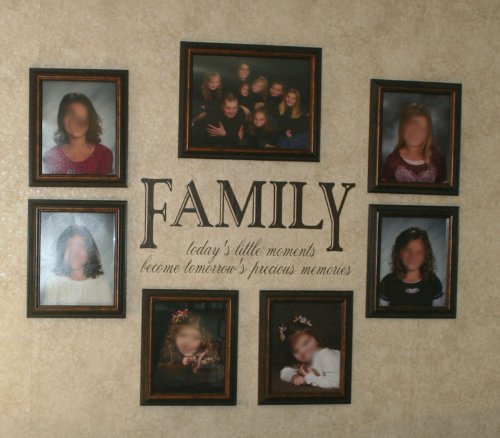 FAMILY today's little moments become tomorrow's precious memories Wall Saying Quote Art Vinyl Decal Sticker Chocolate Brown