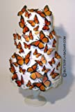 3D MONARCH Butterfly Wedding Cake Topper Set Multi-Sized 36x Butterflies