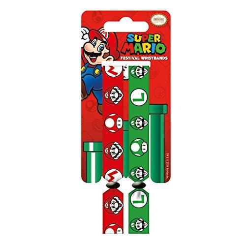 Super Mario e Luigi Doppio Festival Wristband Set
