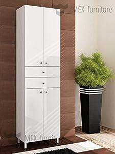 Modern 183cm tall bathroom storage, Cabinet, Matt body and ...