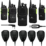 Baofeng 5 x Pofung GT-1 UHF 400-470MHz FM Two-Way Ham Radio Green (LOT 5) + 1 x Programming Cable + 5 x Speaker Mic (Color: Green)