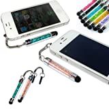 No1accessory new Peacock blue + champagne crystal shaft stylus pen for LG OPTIMUS BLACK P970