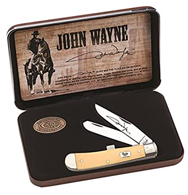Case Cutlery CA10688 John Wayne Commemorative Trapper Gift Set Hunting Knives