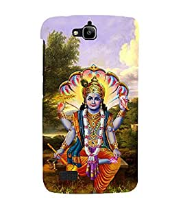 Lord Vishnu Ji 3D Hard Polycarbonate Designer Back Case Cover for Huawei Honor Holly :: Honor Holly