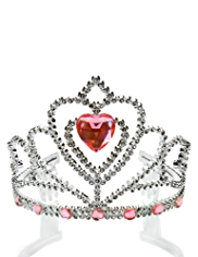 Diamanté & Jewel Heart Tiara